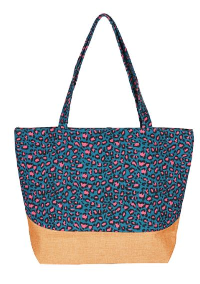 Bolso animal print turquesa