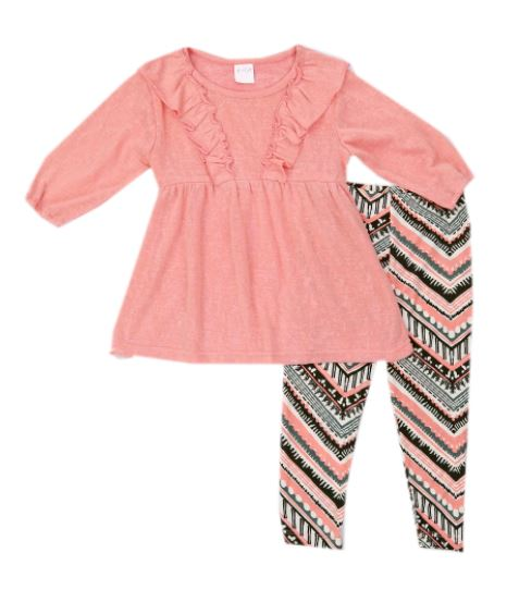 CONJUNTO FASHION GIRL ROSADO CON LEGGIN