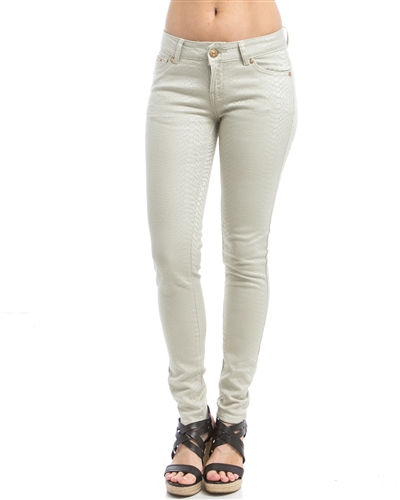 JEANS SNAKE CHAMPAGNE STRETCH  GOLD EDITION