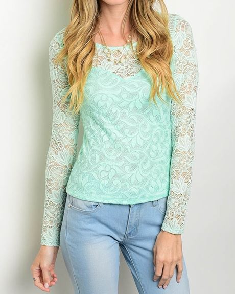 BLUSA MANGA LARGA MENTA STRETCH