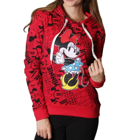 HOODIE MINNIE MOUSE ROJO