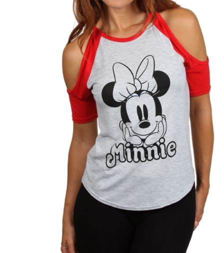 TSHIRT MINNIE MOUSE FASHION COLD SHOULDER