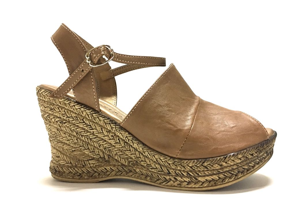 ZAPATOS CUÑA WEDGE CAMEL