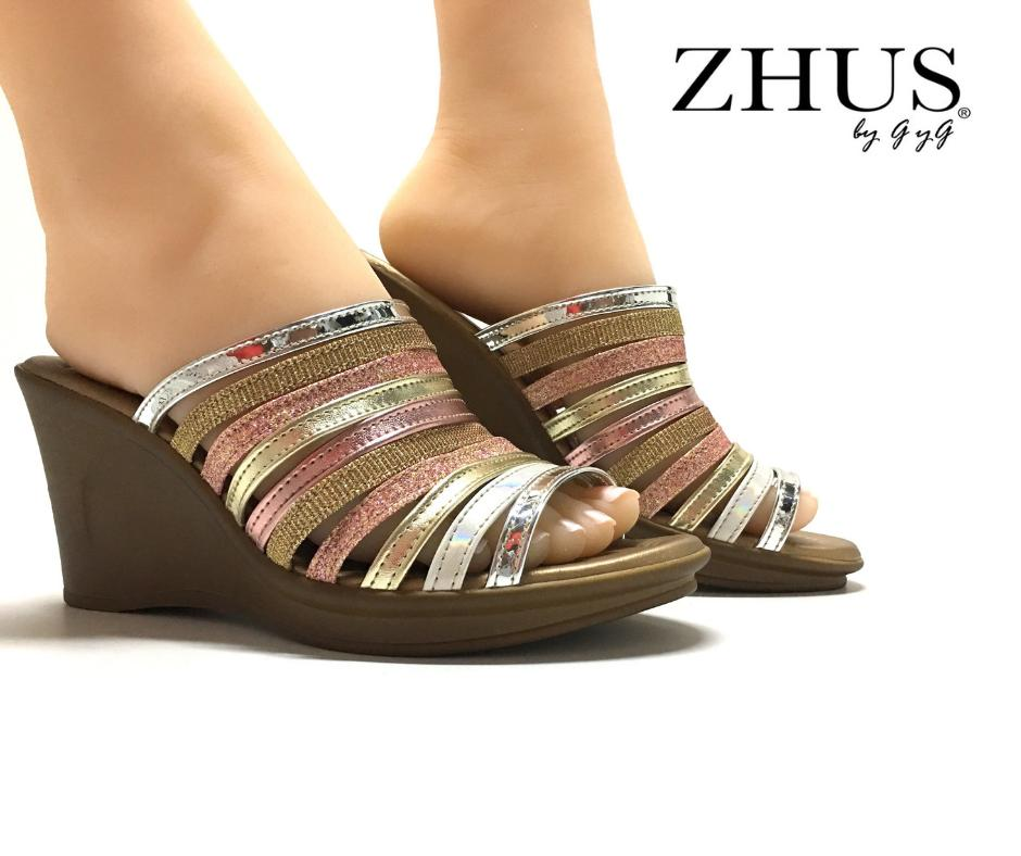 ZHUS CUÑA WEDGE  FAJITAS MULTICOLOR RAINBOW