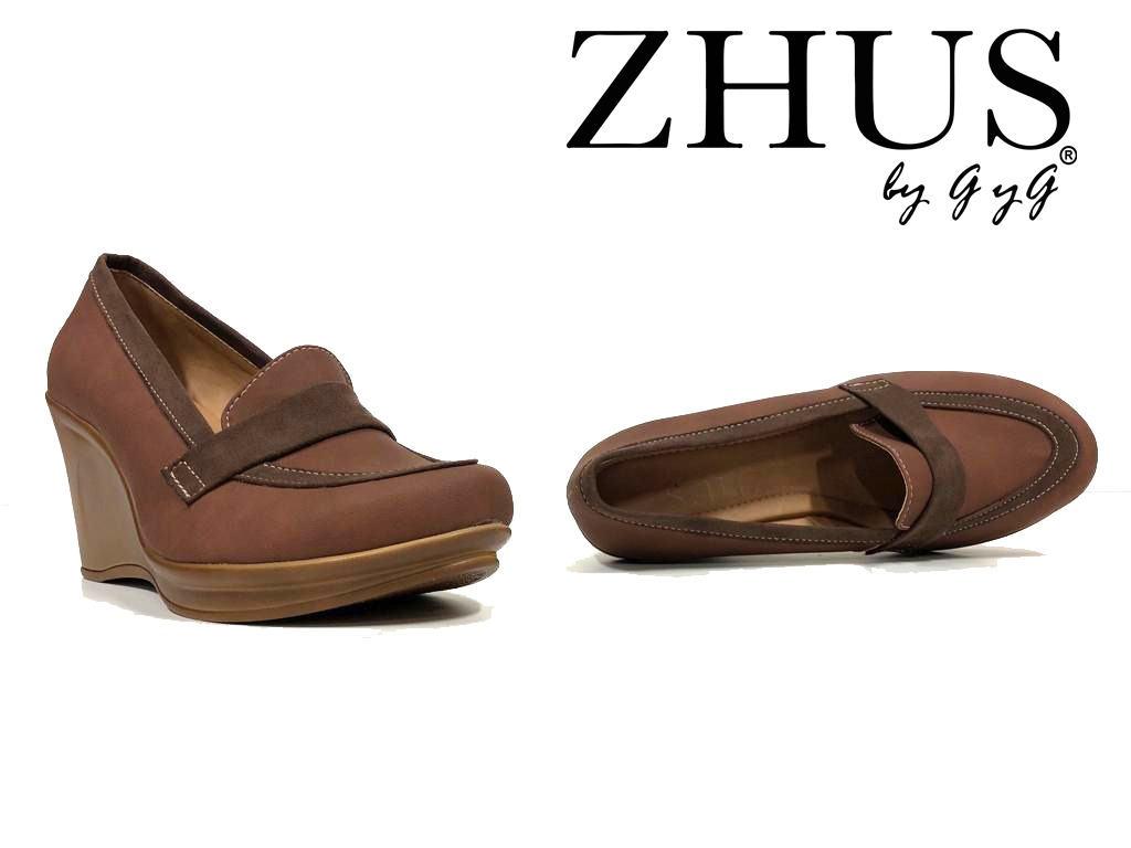 ZAPATOS ZHUS CUÑA WEDGE CAFE