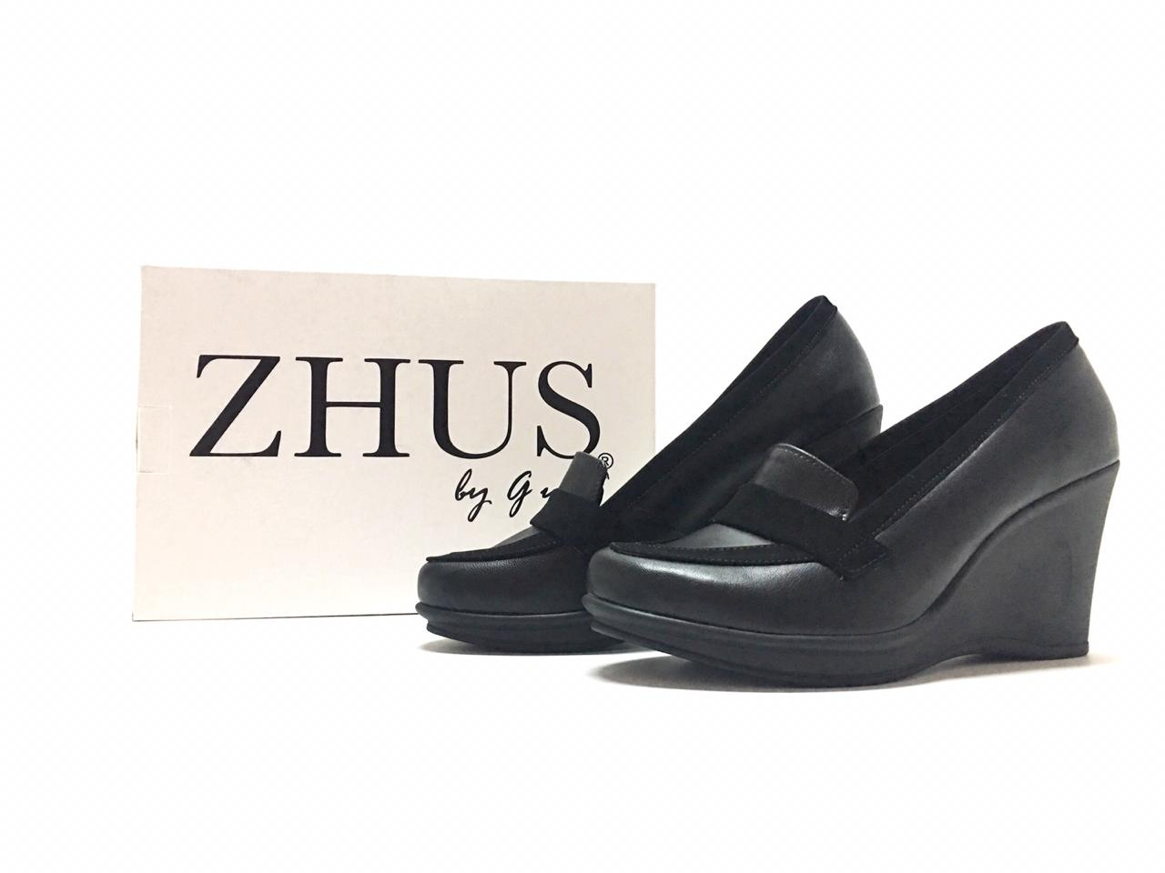 ZAPATOS ZHUS CUÑA WEDGE NEGRO