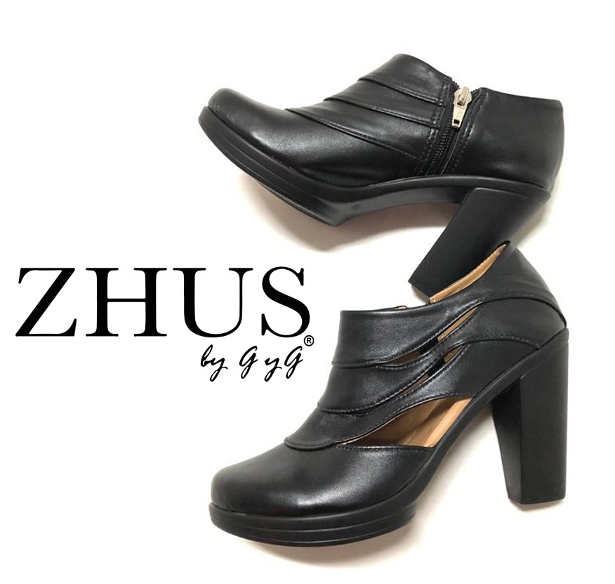 ZHUS LONDON TACON NEGRO ZUECO/BOTIN ZIPPER