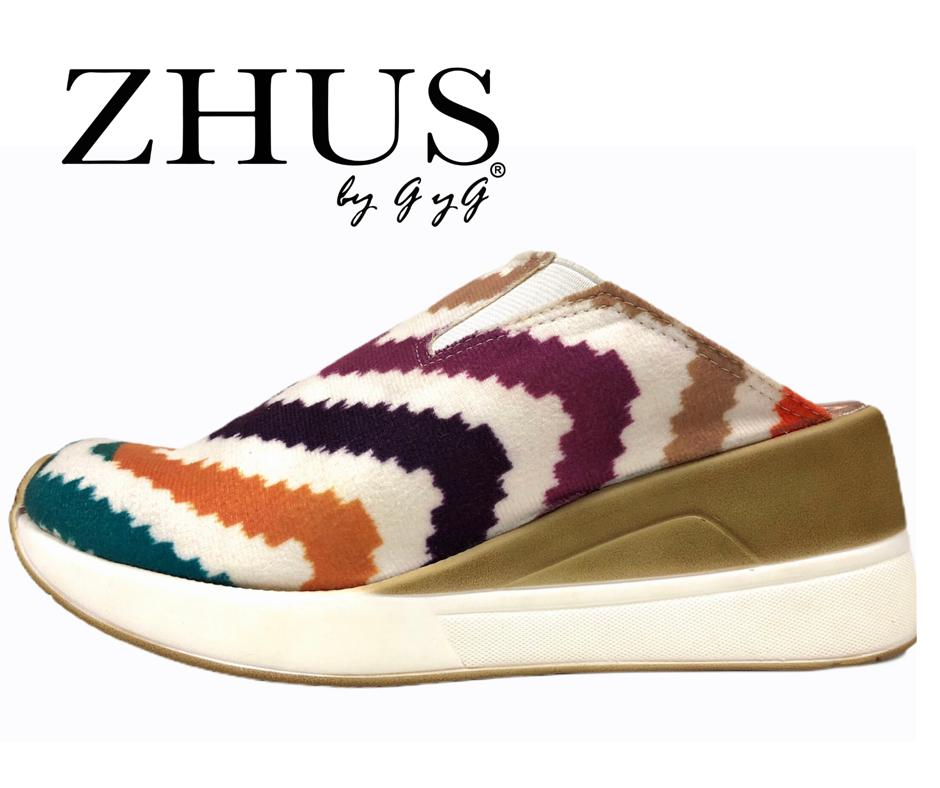 ZHUS COCLES TENNIS ZUECO MULTICOLOR ZIGZAG