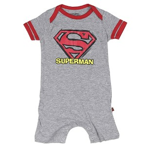 ENTERIZO / MAMELUCO SUPERMAN GRIS