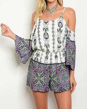 ENTERIZO ROMPER OFF SHOULDER FLORAL