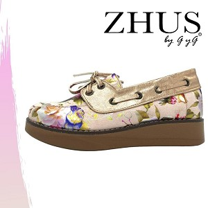 ZHUS TOP SIDER FLORAL ORO ROSA